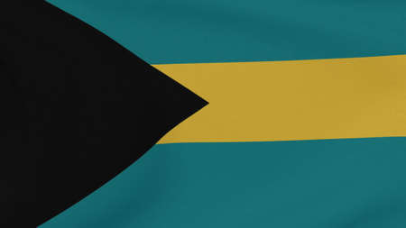 flag Bahamas patriotism national freedom, 3D illustration