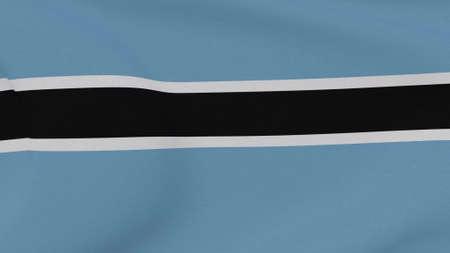 flag Botswana patriotism national freedom, 3D illustration