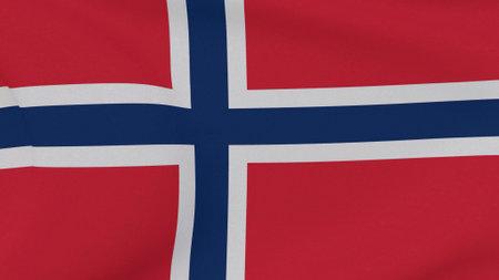 flag Bouvet Island patriotism national freedom, 3D illustration
