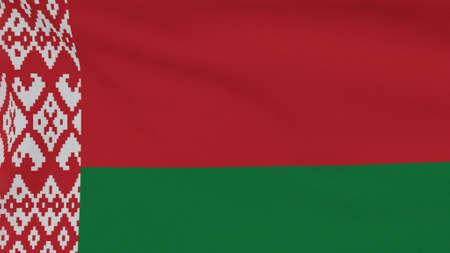 flag Belarus patriotism national freedom, 3D illustration Фото со стока