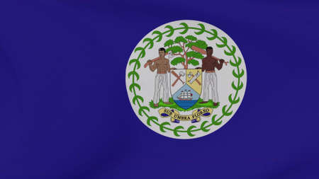 flag Belize patriotism national freedom, 3D illustration Фото со стока