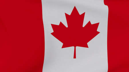 flag Canada patriotism national freedom, 3D illustration Фото со стока