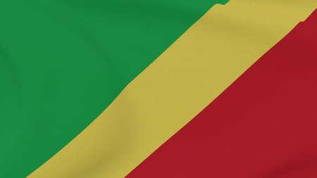 flag Republic of the Congo patriotism national freedom, 3D illustration