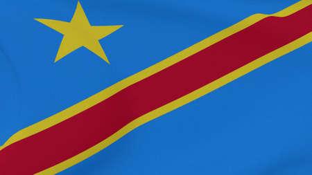 flag DR Congo patriotism national freedom, 3D illustration