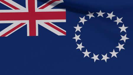 flag islands patriotism national freedom, 3D illustration