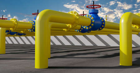 Equipment of the gas energy station Фото со стока