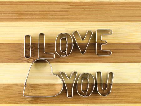 breadboard: Word love from the molds on breadboard.