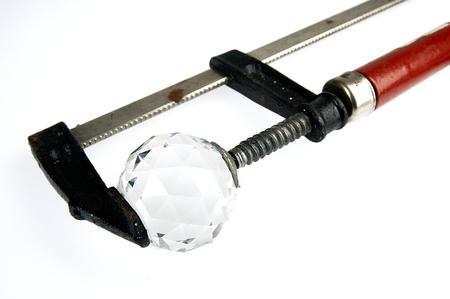 presure: Diamond bullet in the carpenter Stock Photo