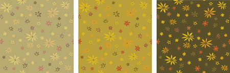 Cute floral seamless pattern. Vector autumn background designs for fashion, fabric, wallpaper, wrapping paper. Stock fotó - 157605648