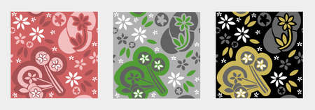 Cute flower seamless pattern. Vector design for fashion, fabric, wallpaper. Use it to decorate your Christmas gift.
