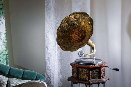 Gramophone in the interior Stock Photo