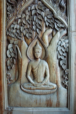 Thai wood carvings  photo