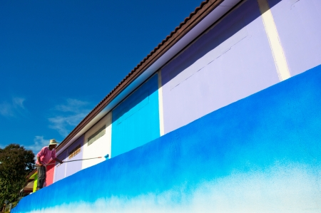 painting and paint brush house photo