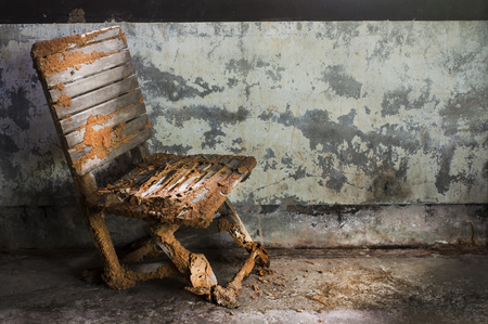 Still life with old chair