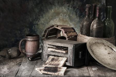 cucina antica: Natura morta con la vecchia cucina Archivio Fotografico