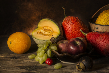 still life  photography  with fruit