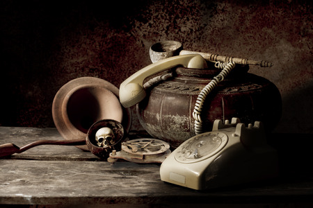 tableau: old Phone still life  Photography