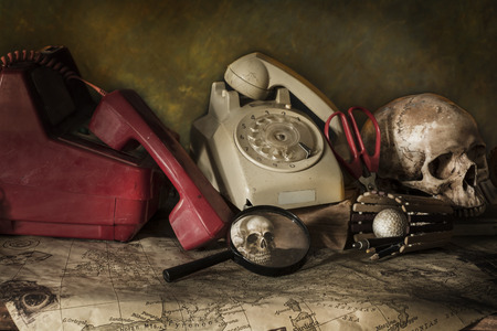 cadaver: old Phone still life Photography