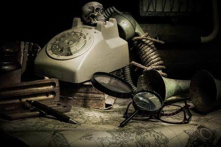 cadaver: old Phone still life  Photography