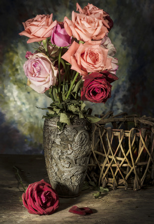 still life Photography with flower Stock Photo