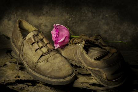 old shoes: still life Photography with old shoes
