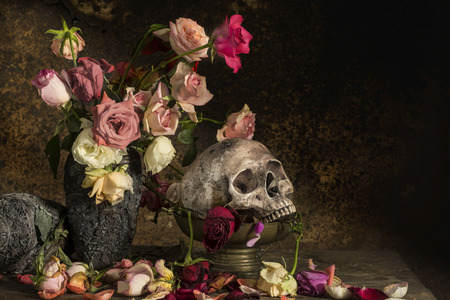 Photographie toujours de la vie avec des fleurs
