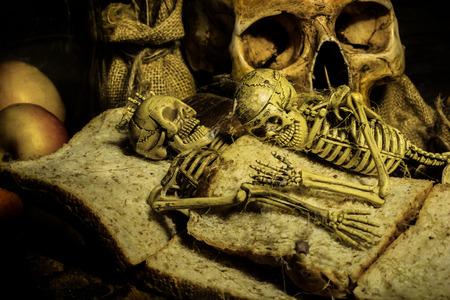 black magic: Skull Haloween