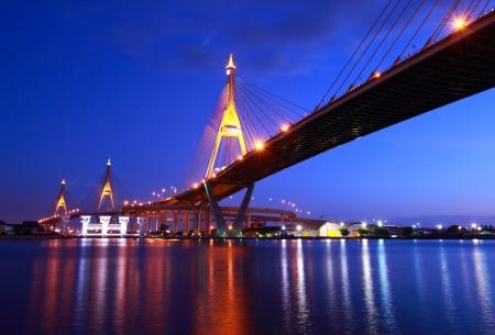 Industrial Circle Bridge in Bangkok, Thailand photo