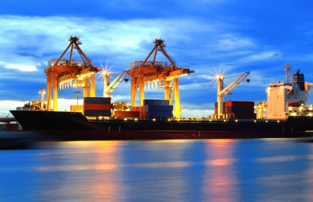 Container Cargo with working for Logistic Import Export