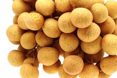 longan: Longan fruit isolated close up on white background  Stock Photo