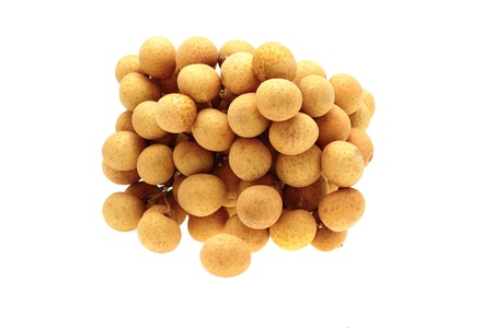 Longan fruit isolated close up on white background  Stock Photo - 14812166