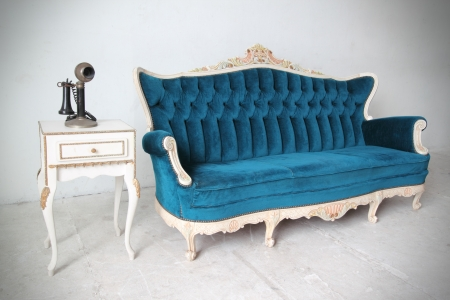 Blue vintage luxury armchair