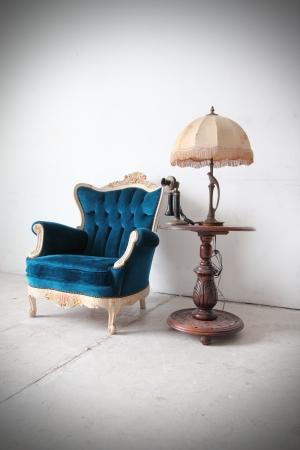 Blue vintage luxury armchair