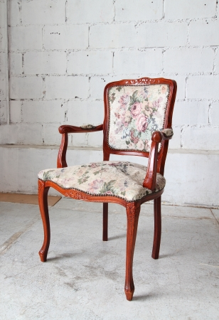 vintage chair: Classic vintage old wooden chair