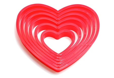 Abstract hearts valentine s day isolate on ehite background Stock Photo - 17792716