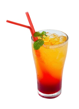 Orange cocktail on a isolate white background clipping path photo