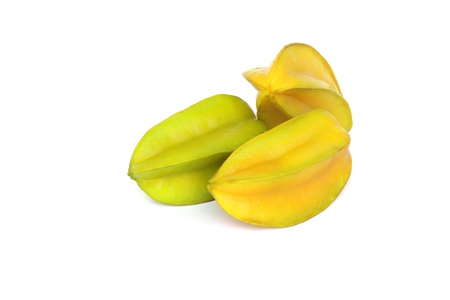 Carambola isolate white background clipping path 2 Stock Photo - 17792654