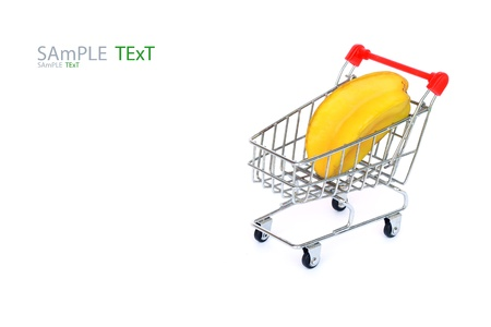 Carambola in shopping cart Stock Photo - 17792660