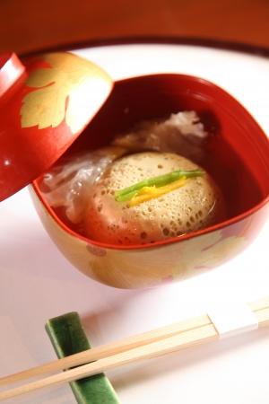 Chinese Steam egg soup Standard-Bild