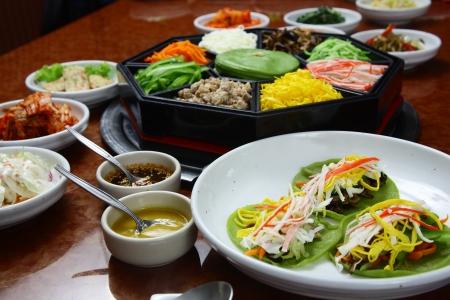Korean cuisine set  Standard-Bild