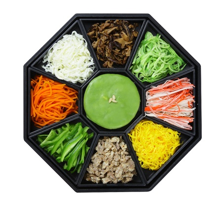 Korean cuisine set  isolate on white background  photo