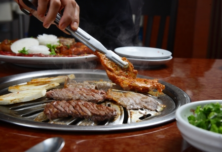 Korean cuisine   barbecue grill photo