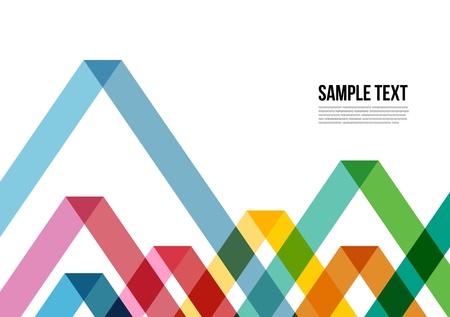 抽象的なカラフルな三角形パターン背景、カバー、レイアウト、雑誌、パンフレット、ポスター、ウェブサイト、Namecard など