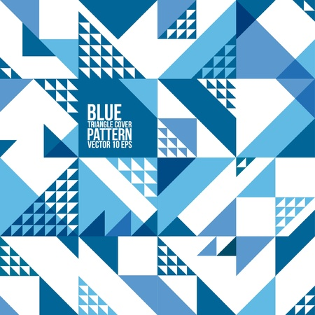 Abstract Geometric Blue Triangle Pattern   Background , Cover , Layout , Magazine, Brochure , Poster , Website , etc  Vector