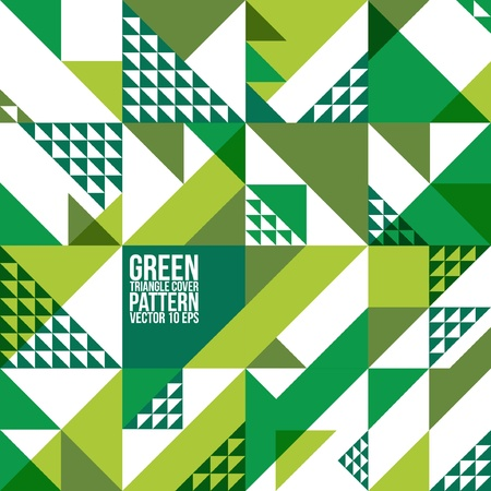 Abstract Geometric Green Triangle Pattern   Background , Cover , Layout , Magazine, Brochure , Poster , Website , etc