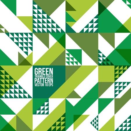 Abstrakte geometrische Grünes Dreieck-Muster-Hintergrund, Cover, Layout, Magazin, Broschüre, Plakat, Website, usw. Standard-Bild - 21117087