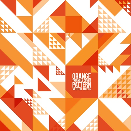 Abstract Geometric Orange Triangle Pattern   Background , Cover , Layout , Magazine, Brochure , Poster , Website , etc  Stock Vector - 21117088
