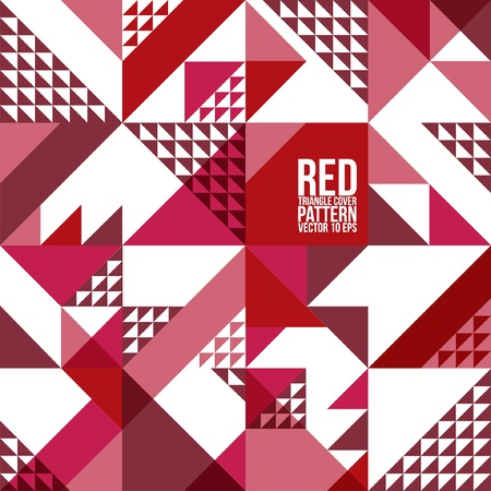 Abstract Geometric red Triangle Pattern   Background , Cover , Layout , Magazine, Brochure , Poster , Website , etc  Ilustração