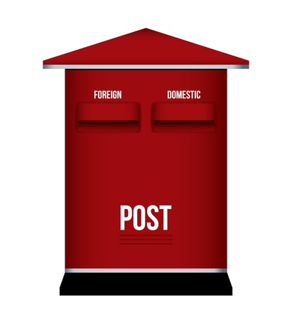 letterbox: Red letterbox, mailbox, postbox isolate on white background Illustration