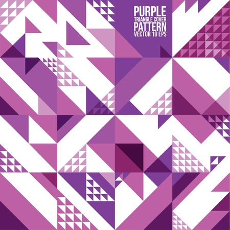 Abstract Geometric Purple Triangle Pattern   Background , Cover , Layout , Magazine, Brochure , Poster , Website , etc  Illustration